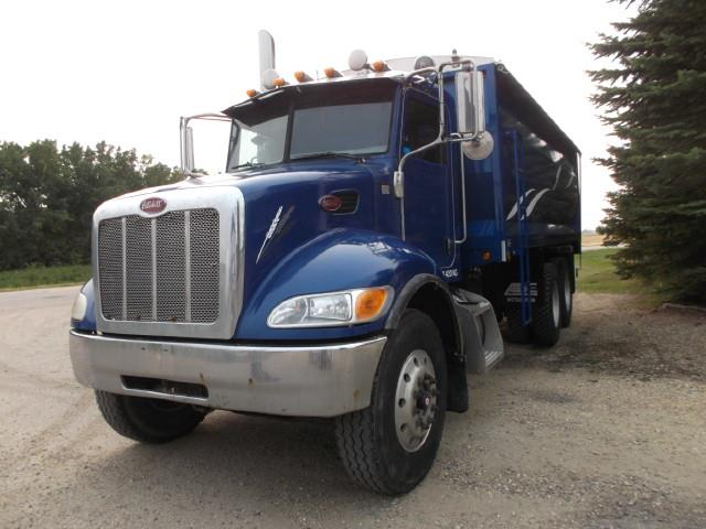 2008 PETERBILT 340 AUTOMATIC T/A GRAIN TRUCK
