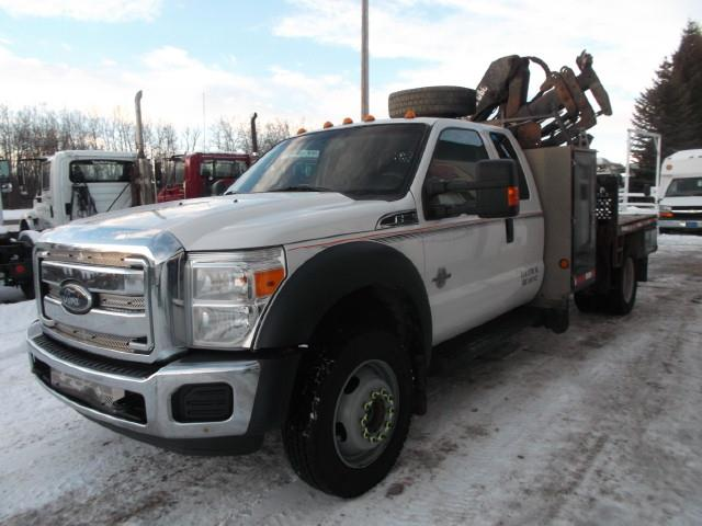 2012 FORD F550 XLT SD PICKER TRUCK