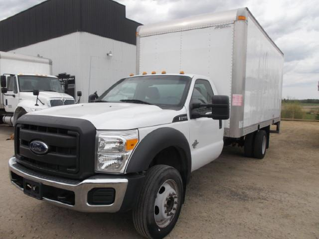 2013 FORD F550 VAN BODY TRUCK